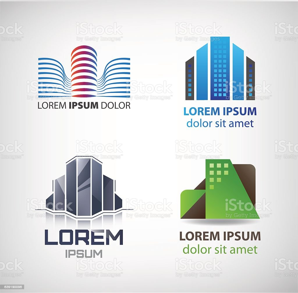 Vector set of building logos company icons vector set of building logos company icons vector set of building logos voltagebd Gallery