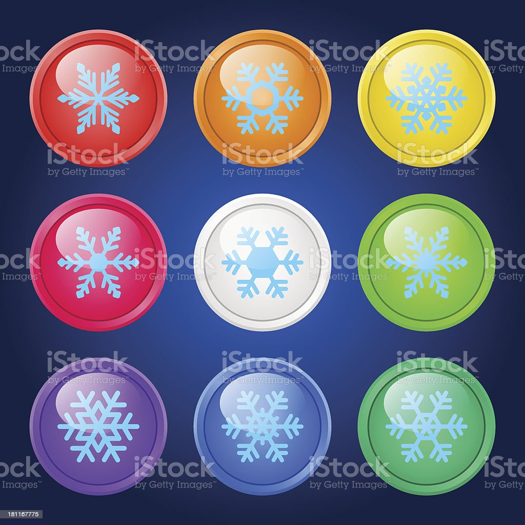 Vector set of buttons. royalty-free stock vector art