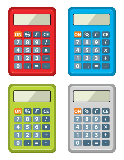 Royalty Free Algebra Balance Calculator Contemporary Clip Art ...