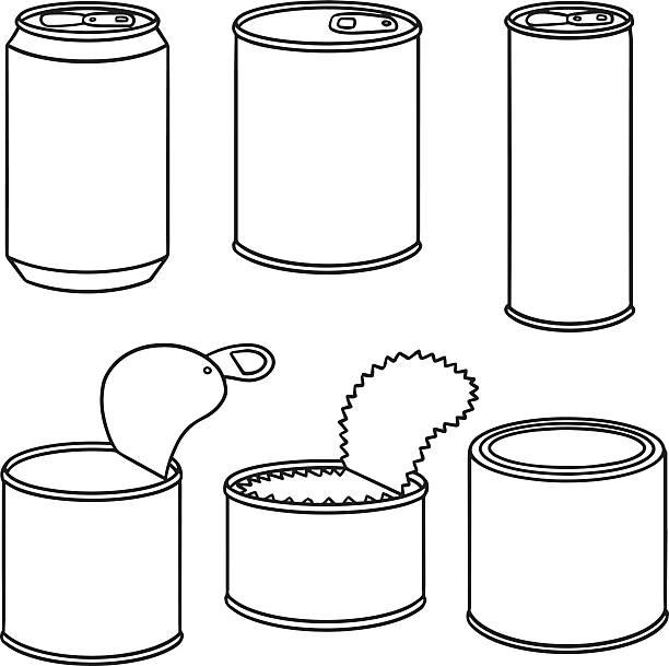 ilustrações de stock, clip art, desenhos animados e ícones de vector conjunto de pode - latão