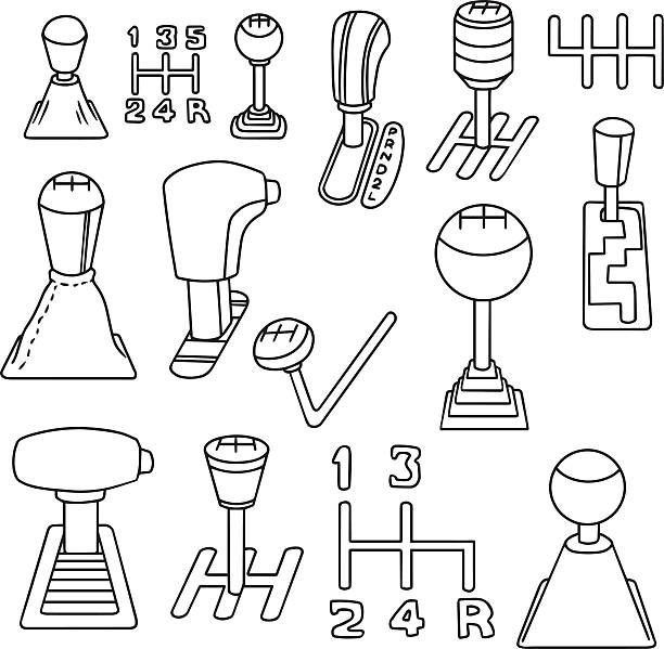 Automatic Transmission Illustrations, Royalty-Free Vector