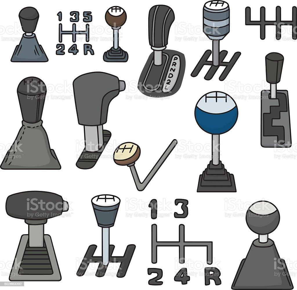 vector set of car transmission vector art illustration