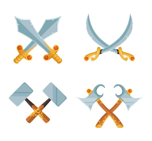 Royalty Free Crossed Hammer Symbol Drawing Clip Art Vector Images