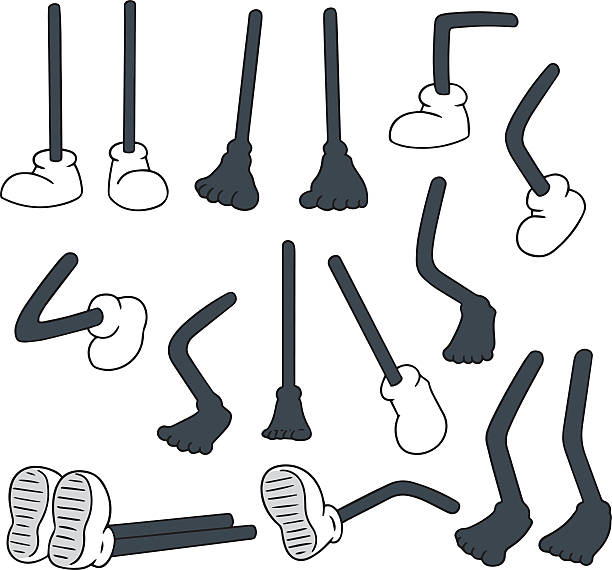 wektor zestaw kreskówka nogawce - ludzka noga stock illustrations