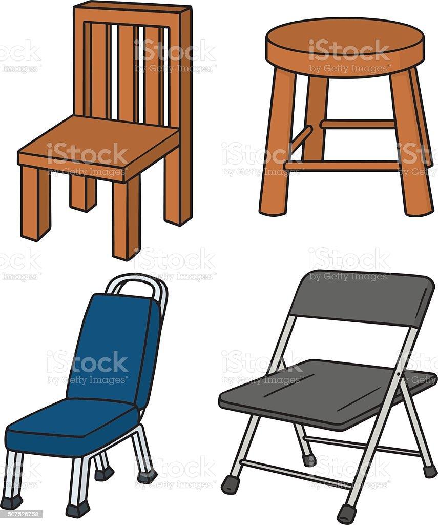 vector set of chair vector art illustration
