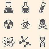 Vector Set of Chemistry Icons.
