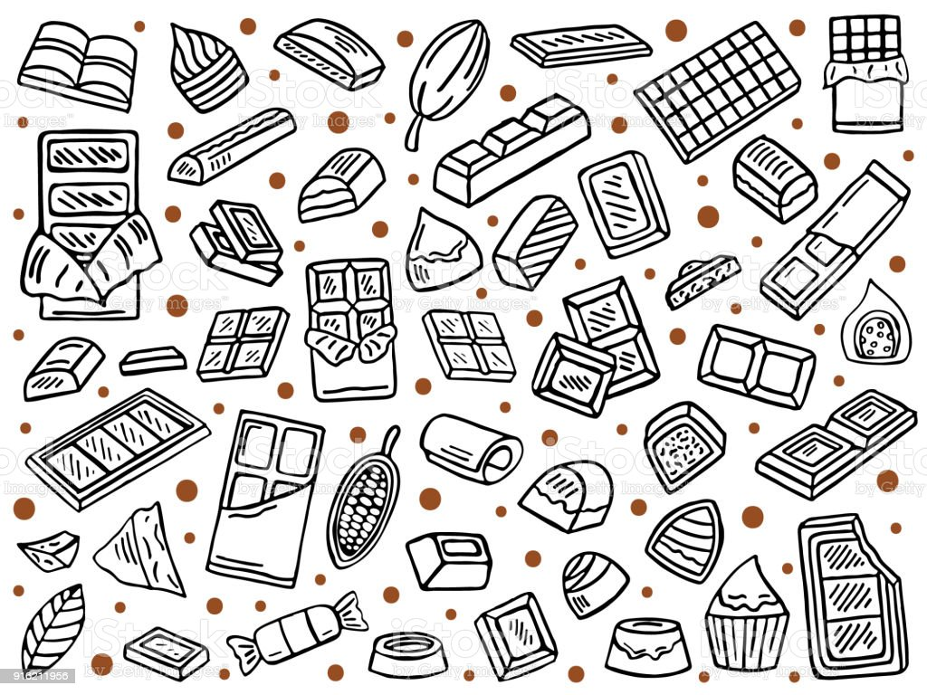 vector set of chocolate vector art illustration