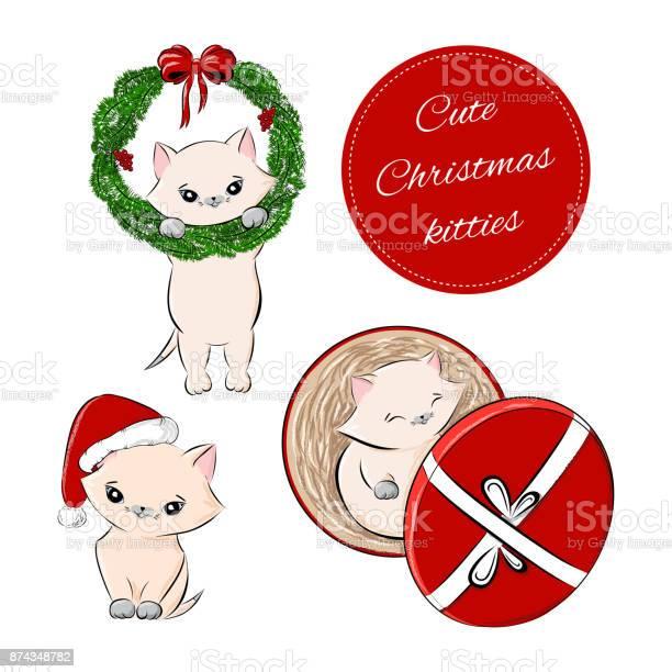Vector set of christmas cute baby kitten vector id874348782?b=1&k=6&m=874348782&s=612x612&h=0q pubzuxvusmhhez 1ctbphobnup ce7mgr9yfd bs=
