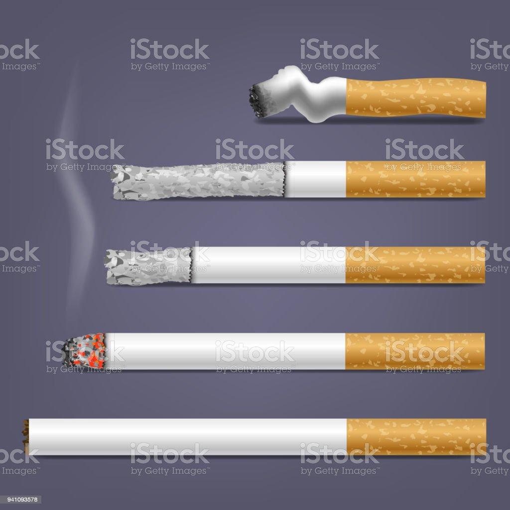 Vector Set of Cigarettes