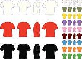 Vector set of classic men's T-shirts