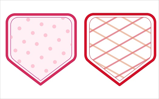 Vector set of colored labels for jam
