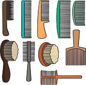 vector set of comb