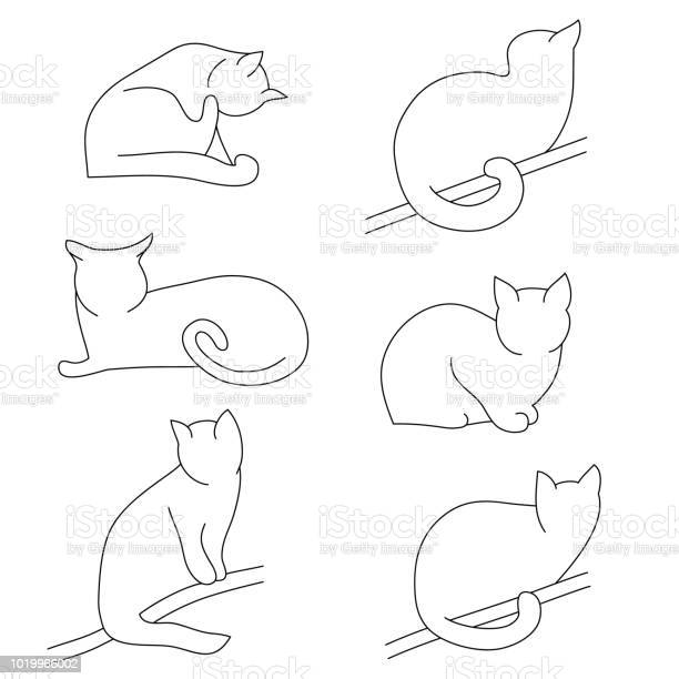 Vector set of contour cat silhouettes different postures sitting vector id1019966002?b=1&k=6&m=1019966002&s=612x612&h=2uypuvv45xz0d crbnbdhx2fxml9xl8xpe4jstluxwi=
