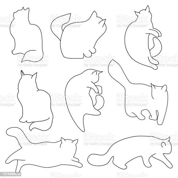 Vector set of contour cat silhouettes different postures sitting vector id1019966038?b=1&k=6&m=1019966038&s=612x612&h=sqkj23solbjyy4bt0ypcvsbxklrw28ghqiqpkprdzc0=