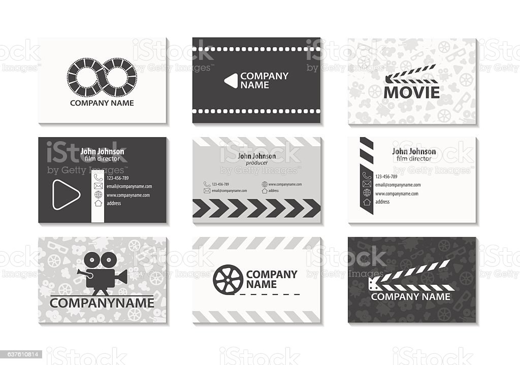 Vector set of creative business cards stock vector art more images vector set of creative business cards royalty free vector set of creative business cards stock reheart Images