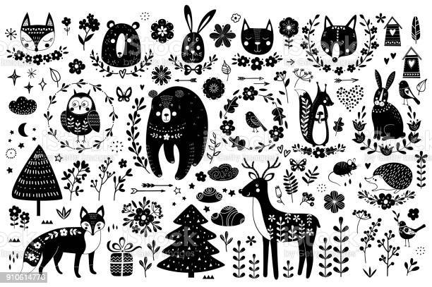 Vector set of cute animals fox bear rabbit squirrel wolf hedgehog owl vector id910614776?b=1&k=6&m=910614776&s=612x612&h=n9zvnnnvt0saokqv5c53mtpbsbj59vob6hbdnz6amk0=