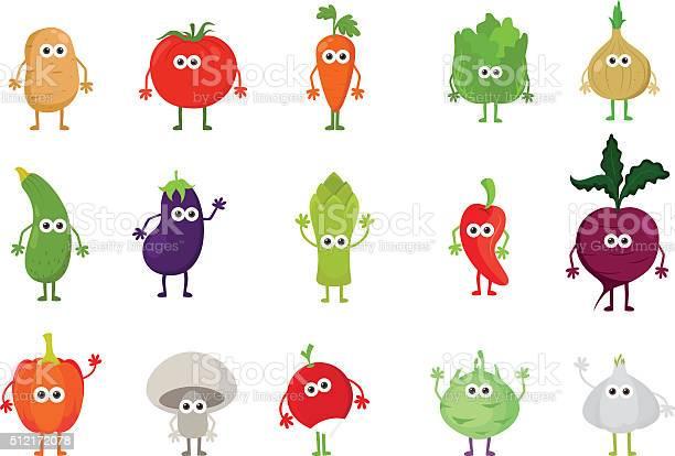 Vector set of cute cartoon vegetable characters vector id512172078?b=1&k=6&m=512172078&s=612x612&h=lp8bnkxdorm tiqiju8tetljn umjnqyu39ic9igjga=