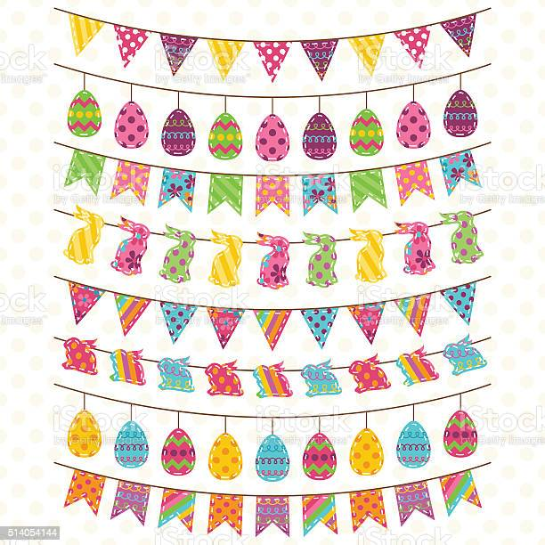Vector set of cute easter and spring themed bunting vector id514054144?b=1&k=6&m=514054144&s=612x612&h=hgtrhxwcr5utm7p93tkzrvbc2g gau9eemndx0yoz4m=