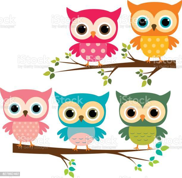 Vector set of cute owls and cartoon branches vector id827862462?b=1&k=6&m=827862462&s=612x612&h=vcsmhi5fcih 4jqcvzexft1x jlghgxdu9zehud6v9s=