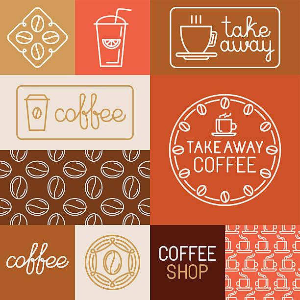 Vektor-Reihe von design-Elemente für Cafés und Geschäften – Vektorgrafik