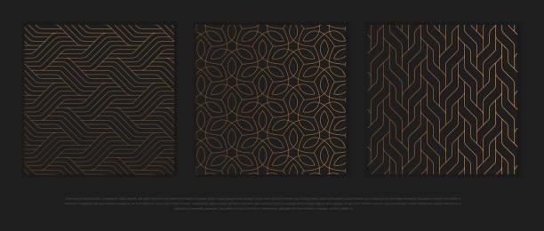 向量設計項目,標籤和框架的包裝在時尚線性風格的奢侈品。 - 宏偉的 幅插畫檔、美工圖案、卡通及圖標