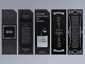 Vector set of design elements labels, icon, , frame, luxury packaging for the product
