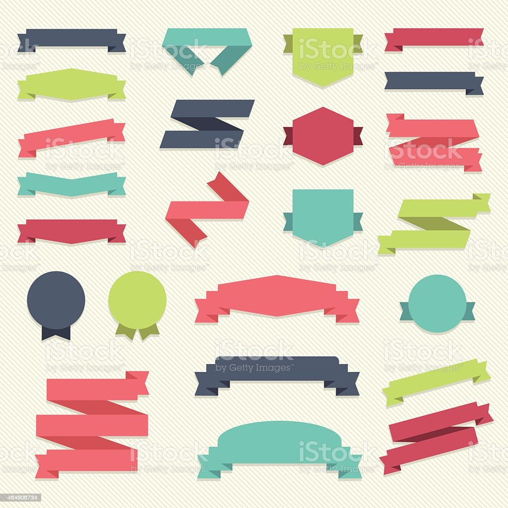 Vector set of design elements vector art illustration