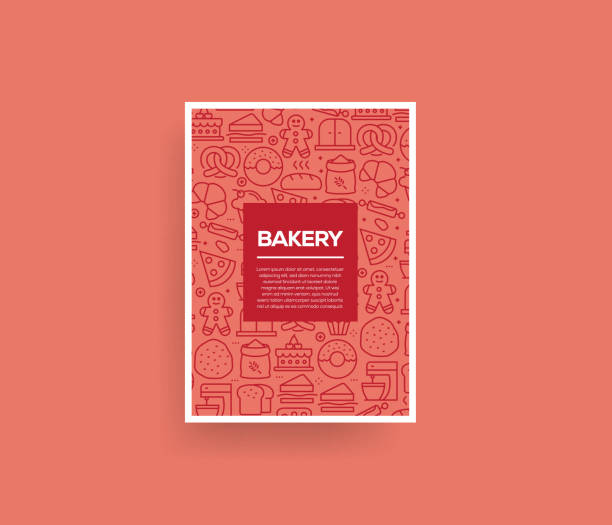 Vector set of design templates and elements for Bakery in trendy linear style - Seamless patterns with linear icons related to Bakery - Vector Vector set of design templates and elements for Bakery in trendy linear style - Seamless patterns with linear icons related to Bakery - Vector bread backgrounds stock illustrations