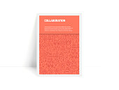 Vector Set of Design Templates and Elements for Collaboration in Trendy Linear Style - Pattern with Linear Icons Related to Collaboration - Minimalist Cover, Poster Design
