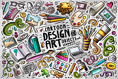 Vector set of design theme items