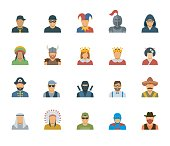 Vector set of different characters avatars