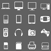 Vector Set of Digital Devices Icons