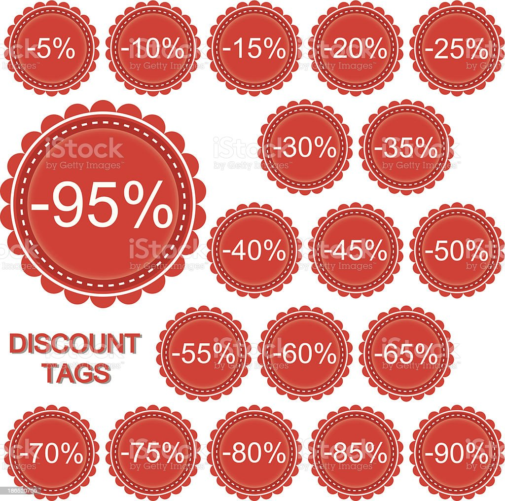 Vector set of discount tags royalty-free vector set of discount tags stock vector art & more images of advertisement