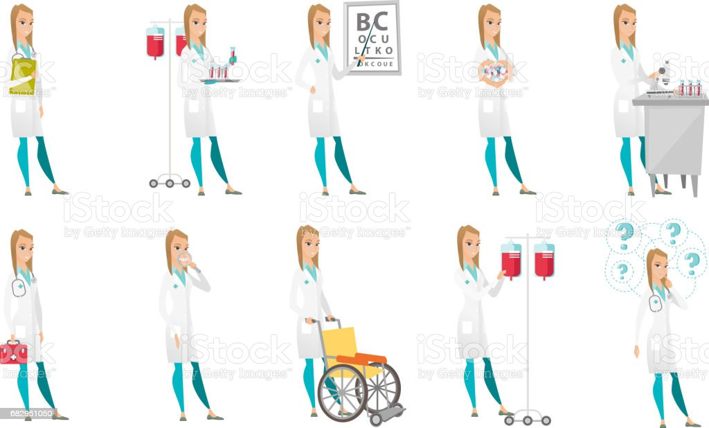 Vector set of doctor characters royalty-free vector set of doctor characters stock vector art & more images of canada