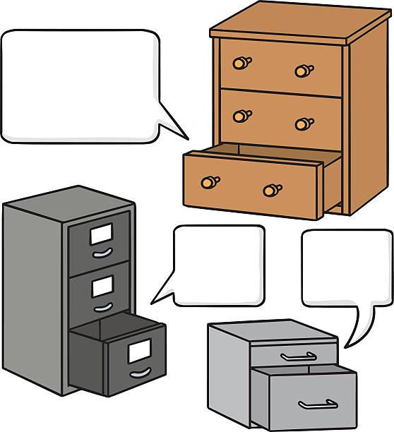 Wektor zestaw szufladę – artystyczna grafika wektorowa