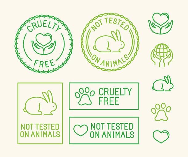 Vector set of ecology badges and stamps for packaging vector art illustration