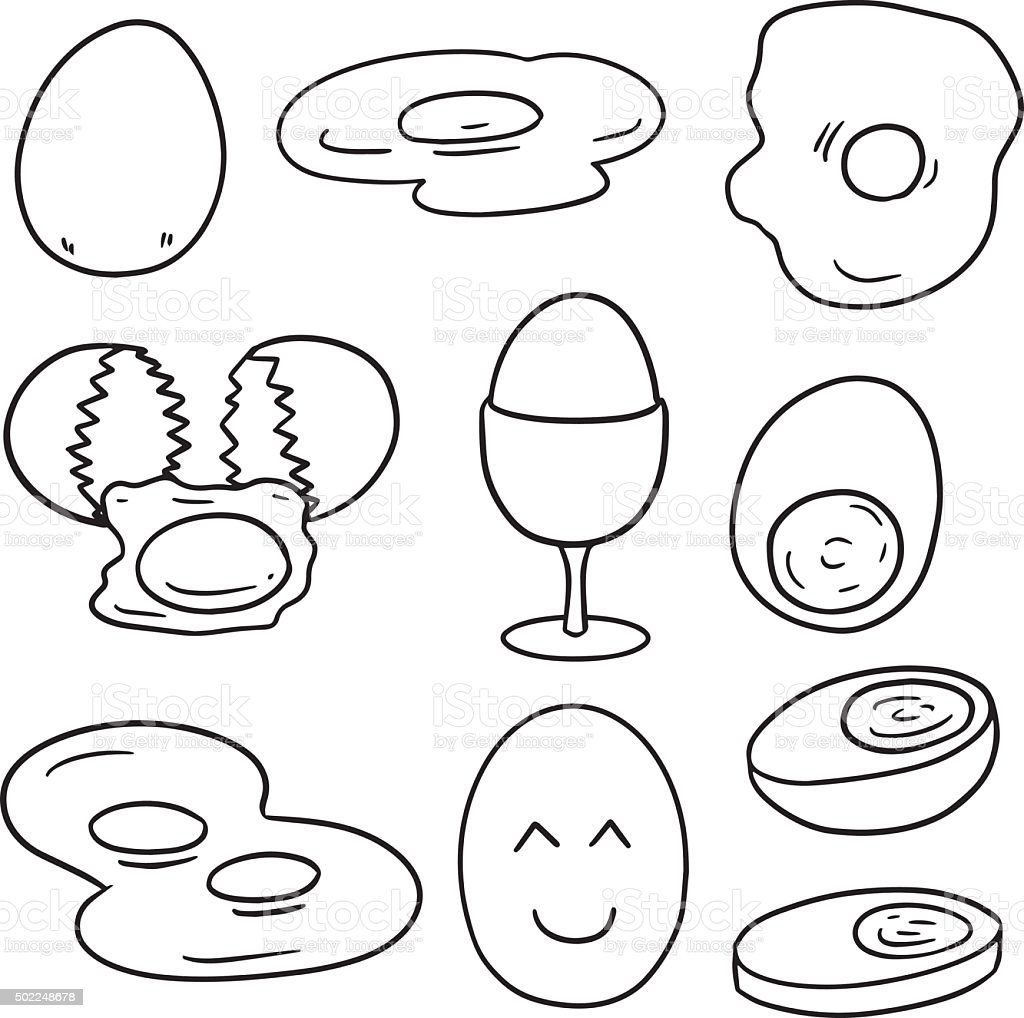 vector set of egg vector art illustration