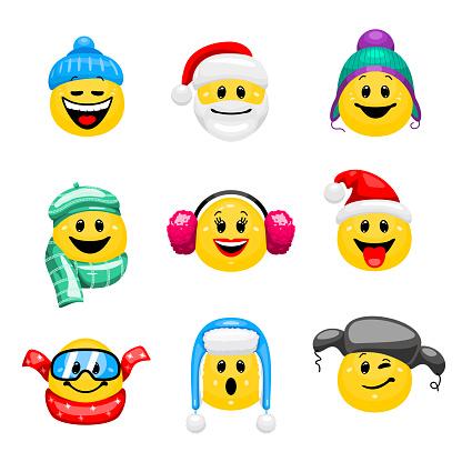 emoticons winter