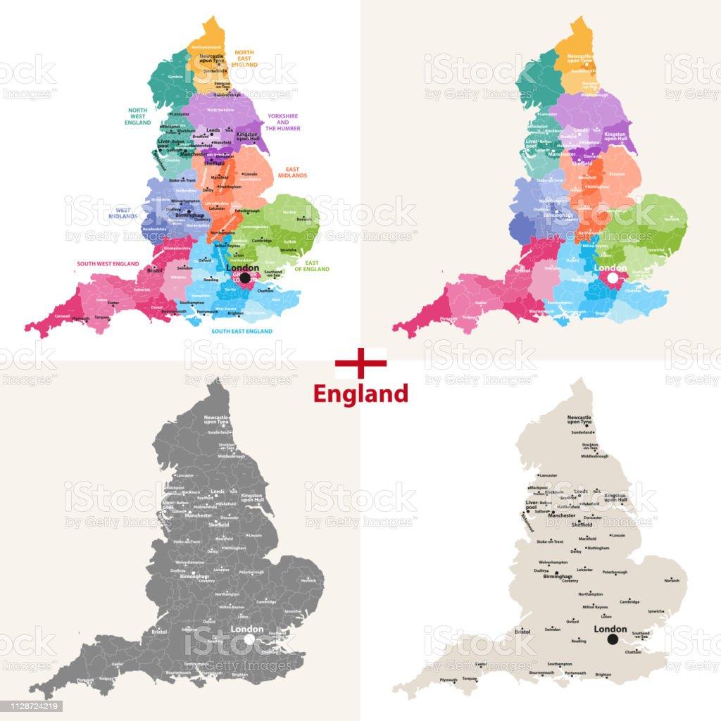 Jeu Carte Angleterre.Jeu De Cartes De Langleterre Avec Les Plus Grandes Villes