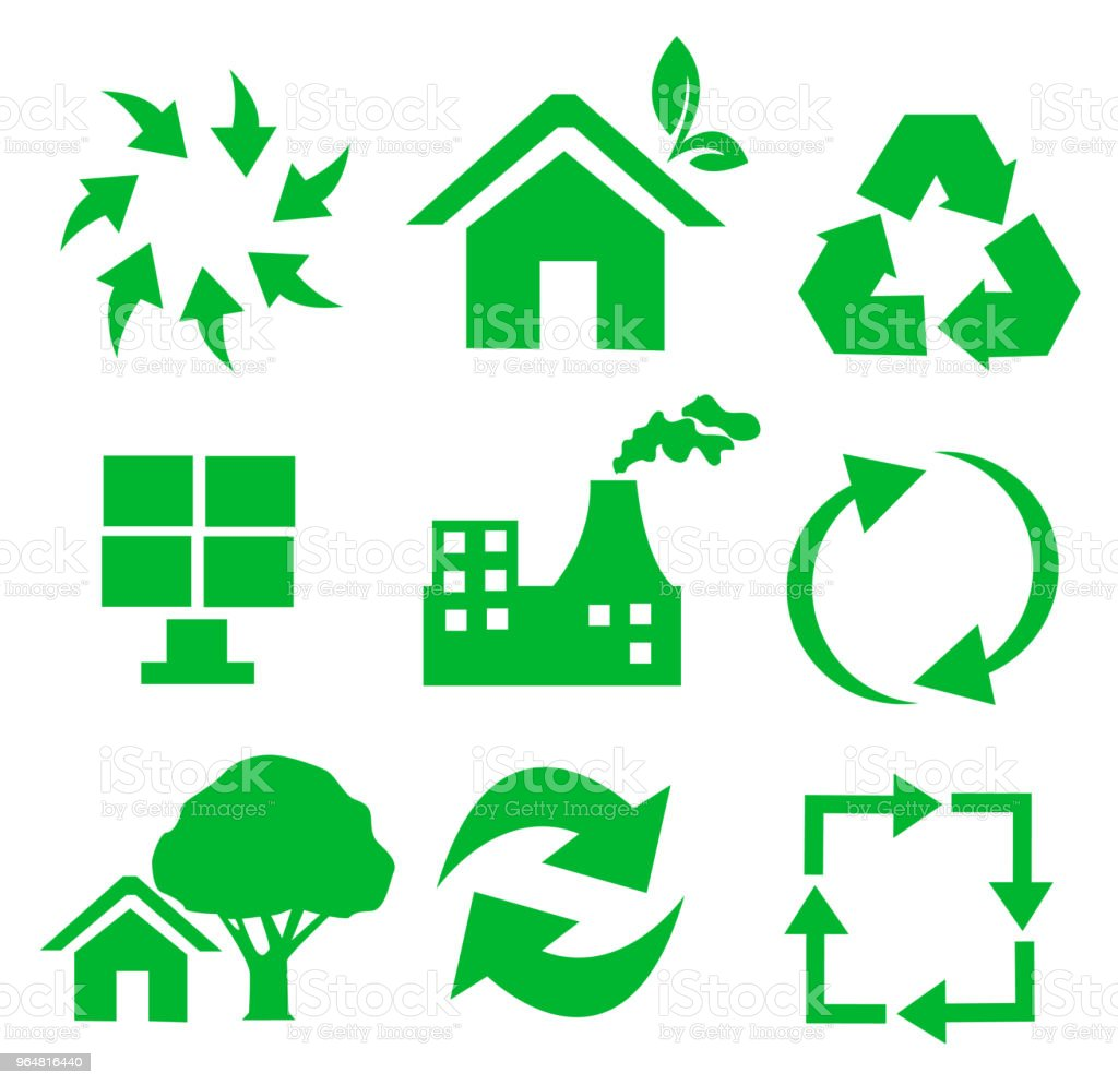 Vector set of environmental / recycling icons royalty-free vector set of environmental recycling icons stock vector art & more images of drop