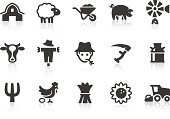 Vector set of farming-related icons