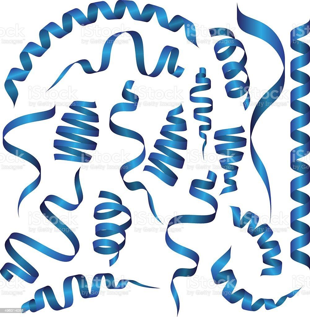 Vector set of festive New Year ribbons. Vector illustration vector art illustration