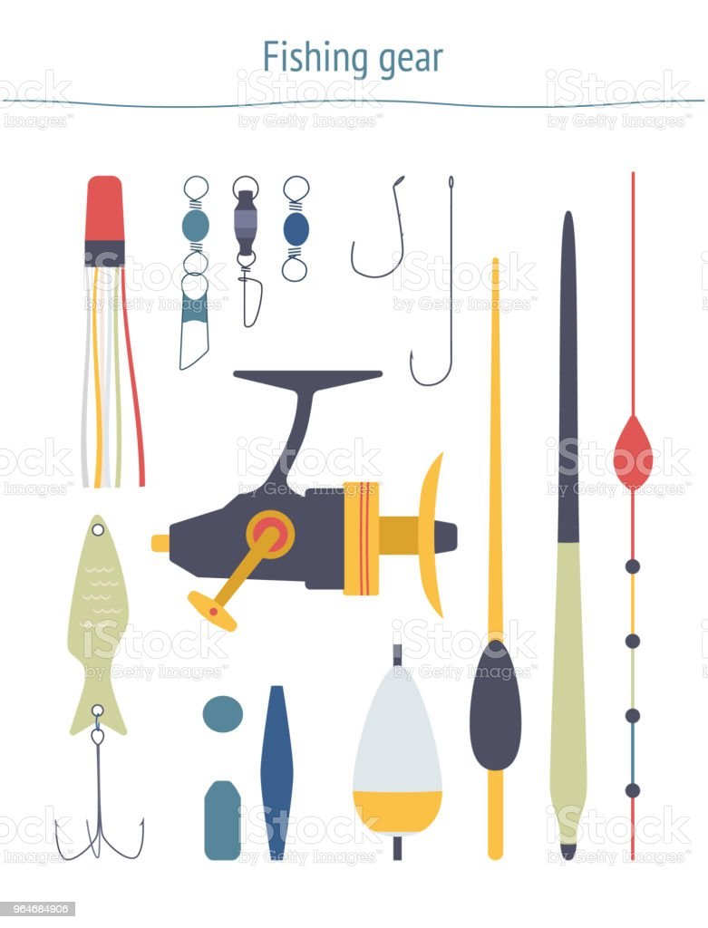 Vector set of fishing equipment royalty-free vector set of fishing equipment stock vector art & more images of ball