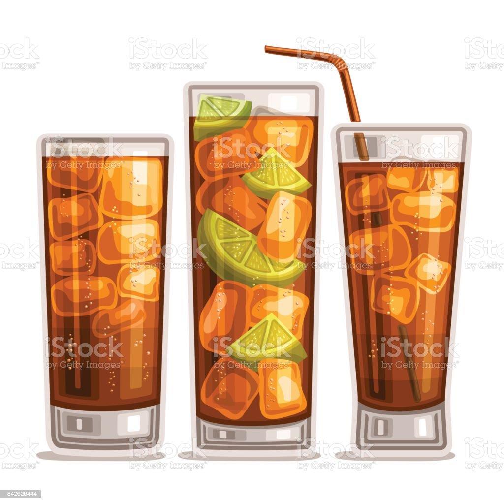 Vector set of fizzy Drinks - illustrazione arte vettoriale