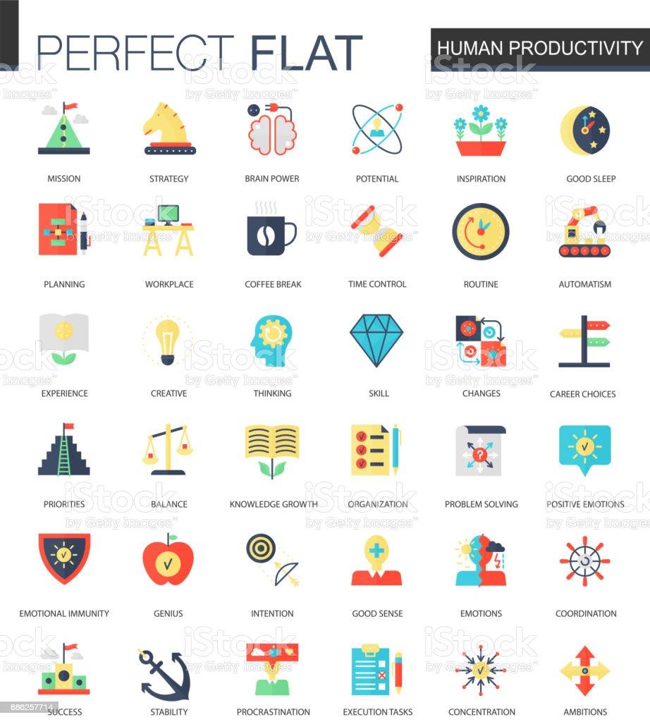 フラット人的生産性、時間管理アイコンのベクトルを設定します。 ベクターアートイラスト