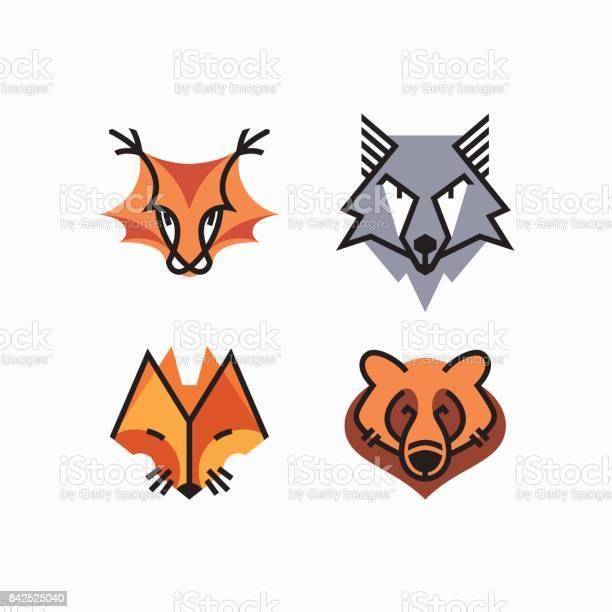 Vector set of flat line and color design animals decorative elements vector id842525040?b=1&k=6&m=842525040&s=612x612&h=xece4vu4y9vrcouixymjllo bgfywbum2b vzn5uax4=