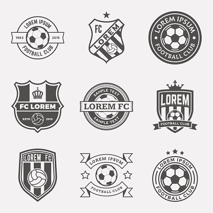 vector set of football (soccer) crests and logos