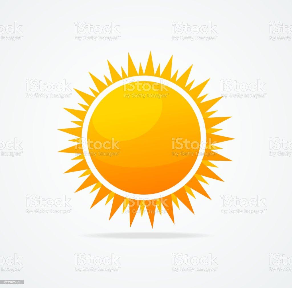 Vector Set of glossy sun vector art illustration