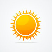 Vector Set of glossy sun