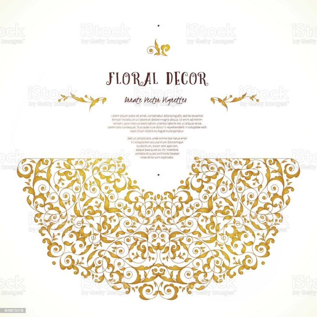 Vecteur défini d'éléments dorés de style oriental. - Illustration vectorielle
